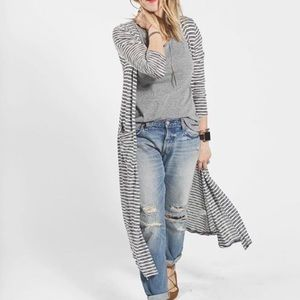 Lularoe Striped Sarah Long Cardigan